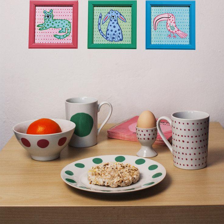 #tigerpolska #tigerstores #dots #groszki #kropki #grochy #kropeczki #plate #talerz #mug #kubek #bowl #miska #miseczka #kitchen #kuchnia #eggcup #photoframe #frame #ramka #serwetki #napkins