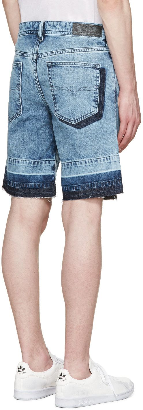 Diesel - Blue Denim Bust-Re Shorts