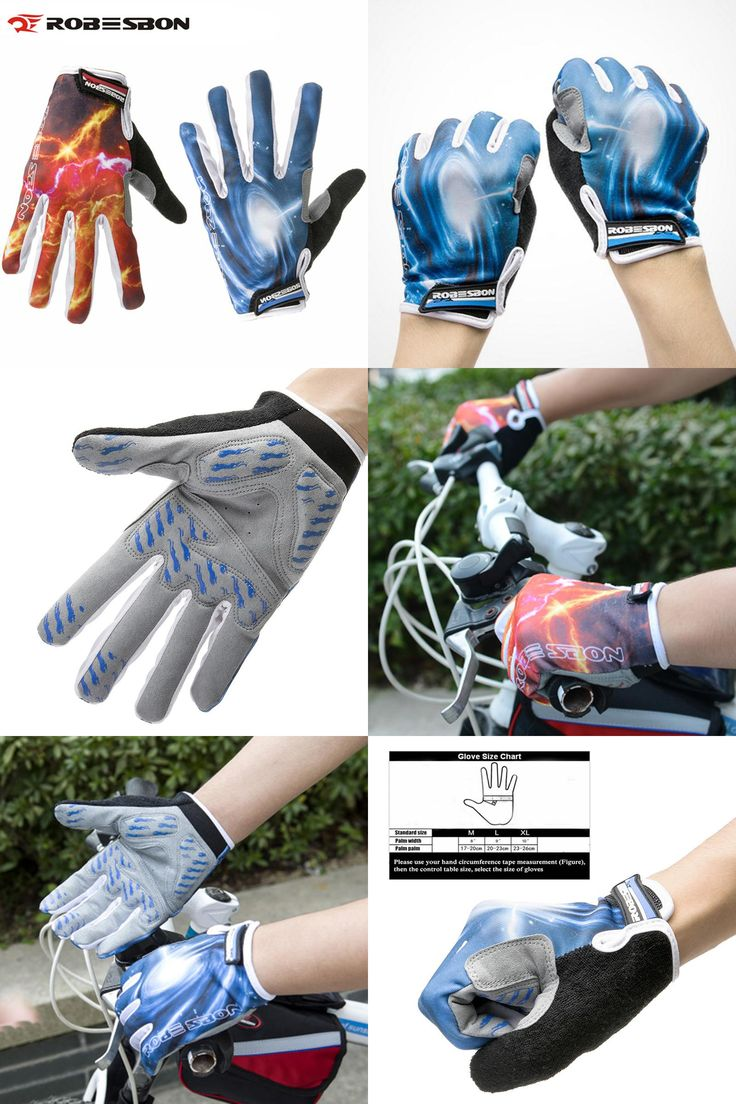 [Visit to Buy] ROBESBON Bike Gloves Men Full Finger Shockproof Pad Mountain Road Bike MTB Glove Running Cycling Sport Cycling Gloves K7204 #Advertisement
