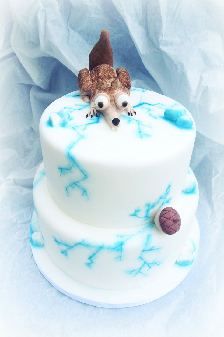 Scrat from the Ice Age. Made by cake designer Martina Di Cristofano.