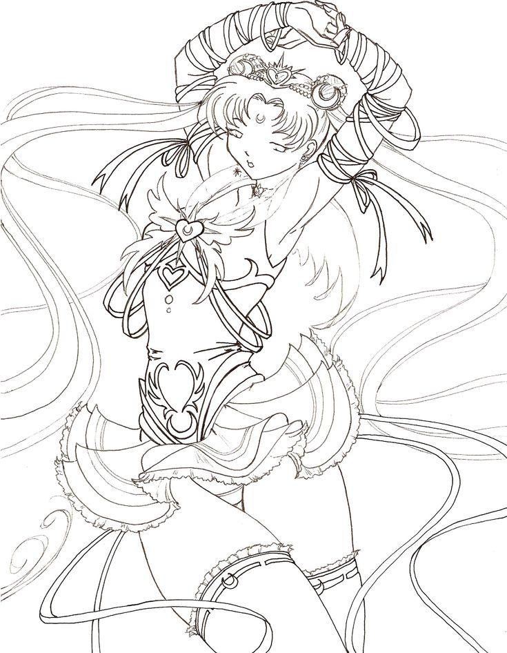 Millennium senshi sailor moon by tsuzukikun anime for Serenity coloring pages