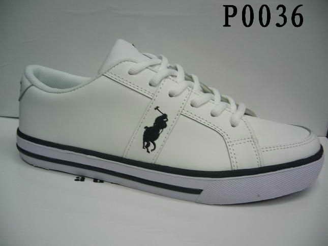 Polo Ralph Lauren Mens Polo Leather Sneaker Shoes White