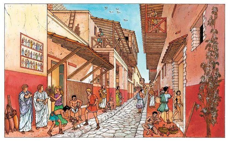 a street scene in Pompeii ~ Marc Henniquiau