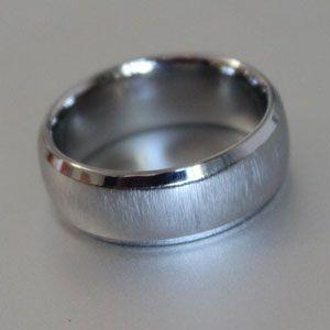 titanium ring with brushed finish