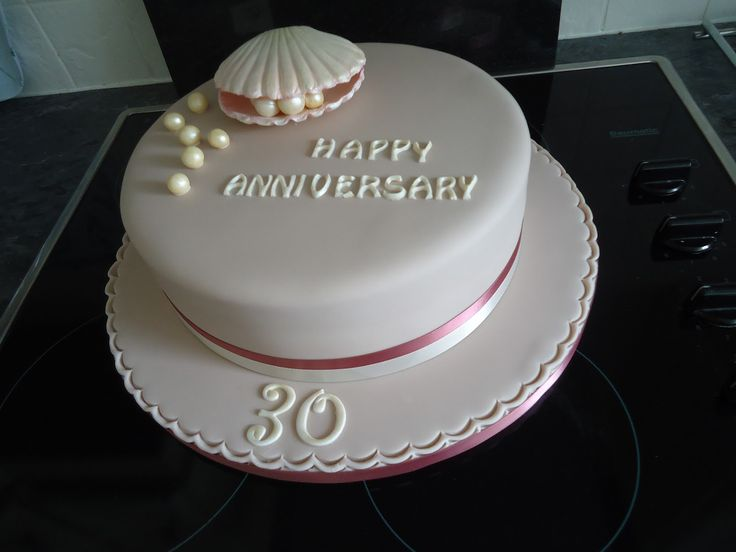 Pearl Gift Ideas For 30th Wedding Anniversary: 22 Best 30th Anniversary Cake Images On Pinterest