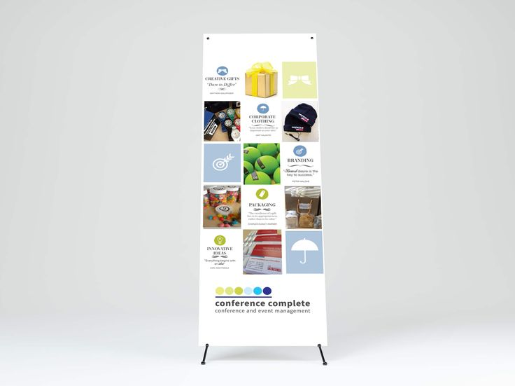 X Frame Banner design for Conference Complete & Complete Gifts by Pink Pigeon Graphic Design © www.pinkpigeon.co.za