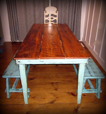 NEW but kinda old table. Table top is 3 long planks of wood from an old barn.Decor, Coffee Tables, Dreams, Check, Tables Tops, Wood Planks Tables, Long Planks, Blog, Barns Wood