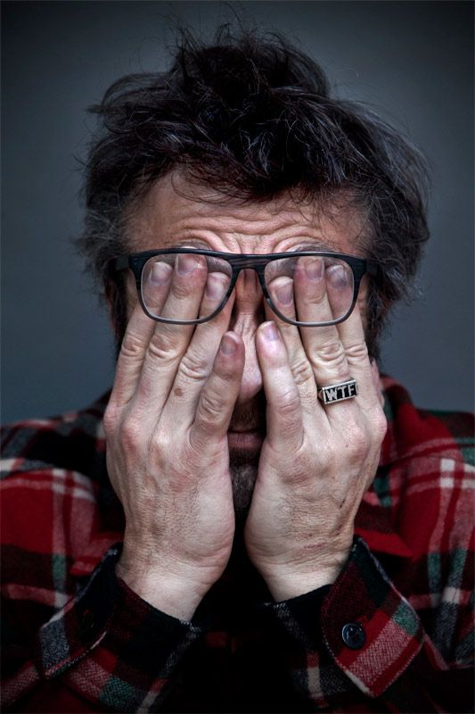 WTF with Marc Maron.  How I feel most of the time.