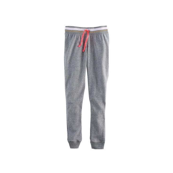 Girls 7-16 & Plus Size SO® Metallic Jogger Pants, Size: 16 1/2, Med Grey