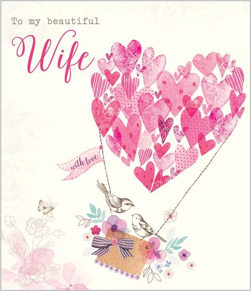 Card Ranges » 7507 » Wife - Bouquet of Hearts - Abacus Cards - Greetings Cards, Gift Wrap & Stationery
