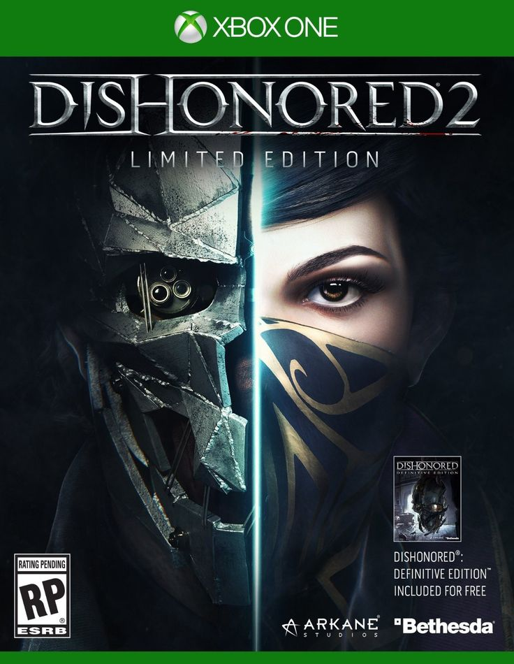 Dishonored 2 Limited Edition Pre-Order Xbox One Physical Game Disc US