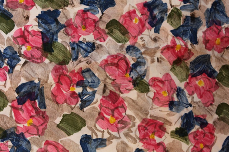 polished cotton abstract floral