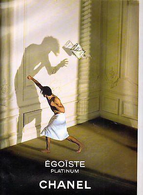 CHANEL EGOISTE PLATINUM E ADVERT Magazine advert clipping NOT A COPY,