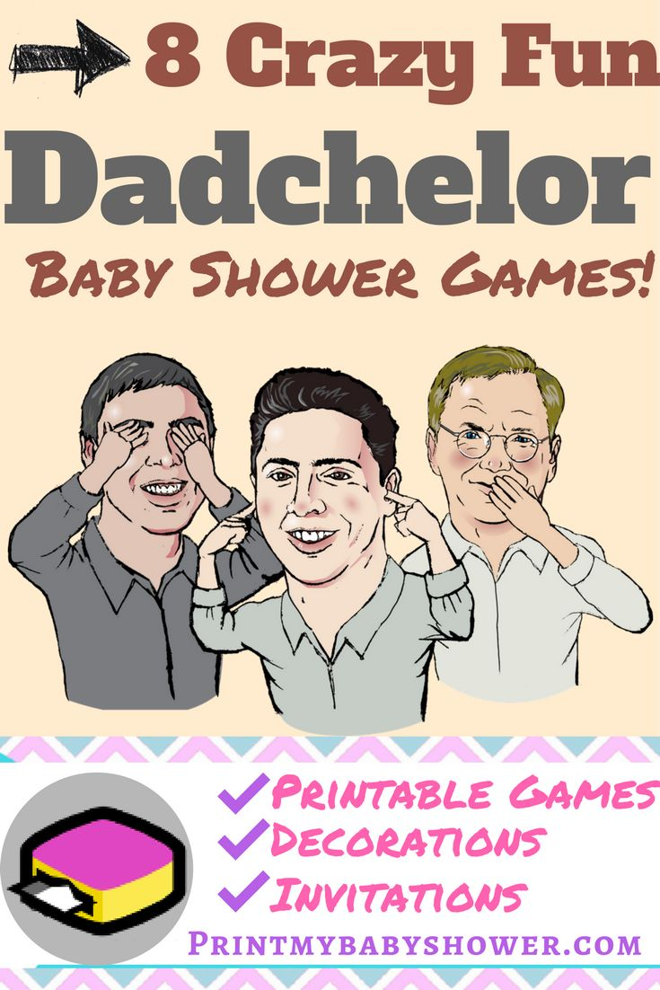 Dadchelor Party | Dad Baby Shower Get These Fun Physical And Printable Baby  Shower Games For