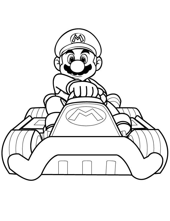 Dessins Gratuits à Colorier - Coloriage Mario Kart à imprimer