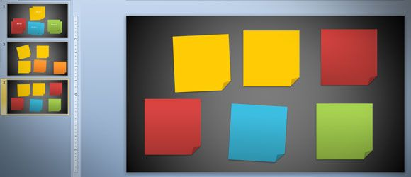draw sticky note pictures using PowerPoint 2010 and Shapes #design #powerpoint #slide #template