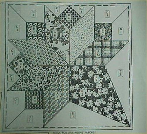Vintage Quilt Pattern Nosegay Pieced Scrap 1930s Bold | eBay