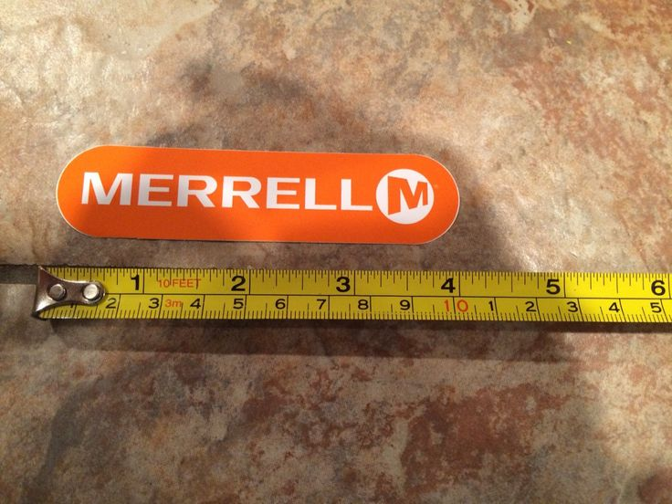 Merrell Hiking Sticker Orange Small - Climbing Mens Womens Boots Jacket Pants Tent Shirt