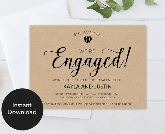 Best Engagement Invitations Images On   Engagement