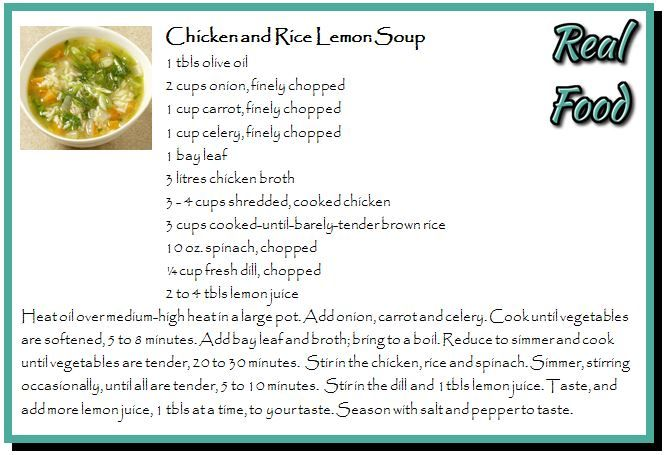 Chicken and Rice Lemon Soup