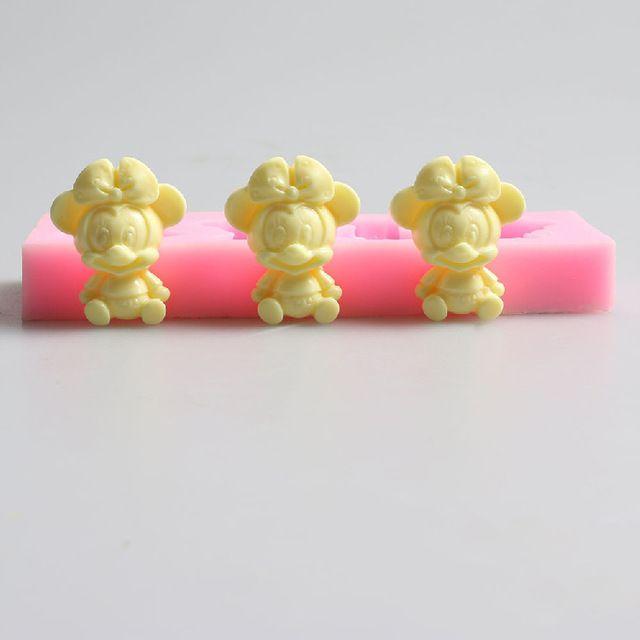 DIY Mickey Mouse Em Forma de Molde de silicone Fondant, Resina Argila Chocolate Molde Do Bolo Do Silicone, Ferramentas Fondant decoração do Bolo FM937