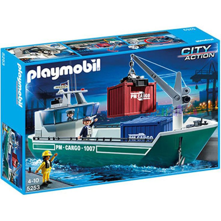 Playmobil #5253 Cargo Ship with Loading Crane! -New-Factory Sealed