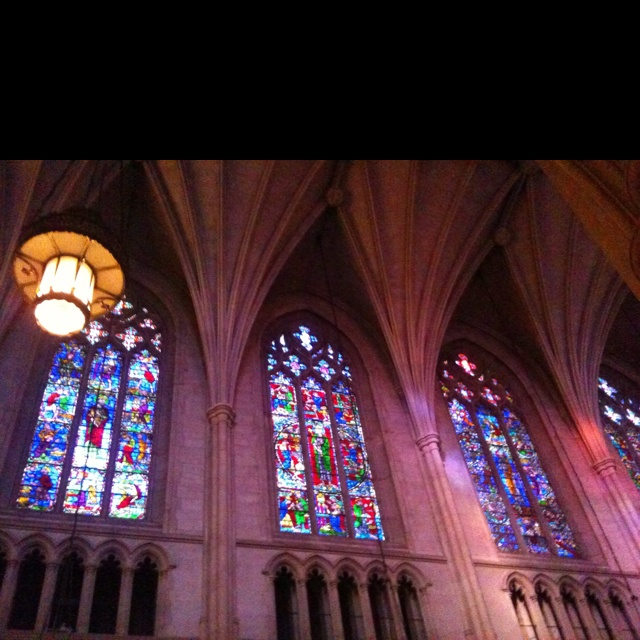 Duke Chapel - Durham, NC I can get lost looking in the stained glass.