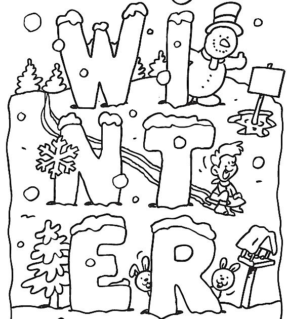 Free Printable Winter Coloring Pages For Kids Winter Animals