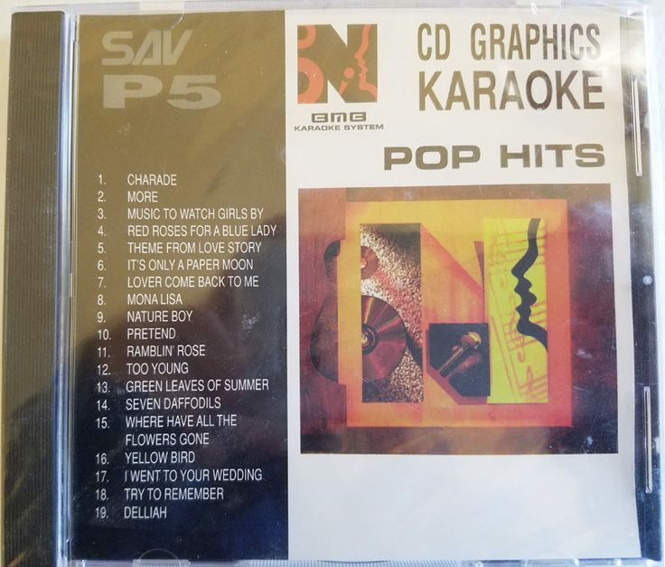 Pop hits oldies Karaoke cdg disc new and sealed 19 songs Andy Williams Nat King…