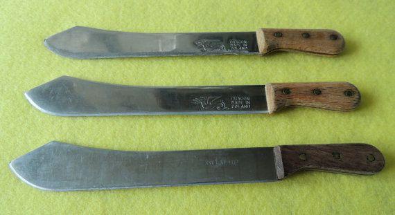 Vintage Set of Three 3 Knives Made in Poland Vintage Knife
