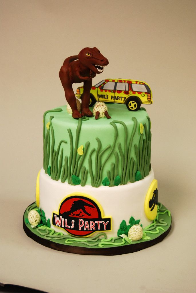 13 Best Images About Jurassic Park Fondant Cake On