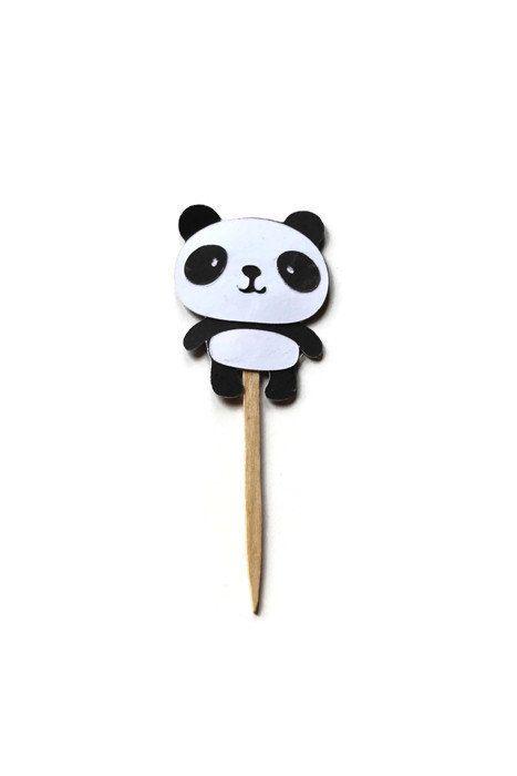 12 Panda Cupcake Toppers, Panda Pick, Birthday Party Decor, Baby Shower Decor, Paper Panda Topper, Panda Cut Out, Panda Die Cut, by SarahsPartyPaper on Etsy https://www.etsy.com/listing/237064949/12-panda-cupcake-toppers-panda-pick