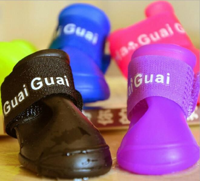 4pcs/set Pet Dog Shoes Waterproof Colorful Pet Shoes,Lovely Portable Pet Boots Anti Slip Skid Rain Shoes For Dogs Winter #>=#>=#>=#>=#> Click on the pin to check out discount price, color, size, shipping, etc. Save and like it!