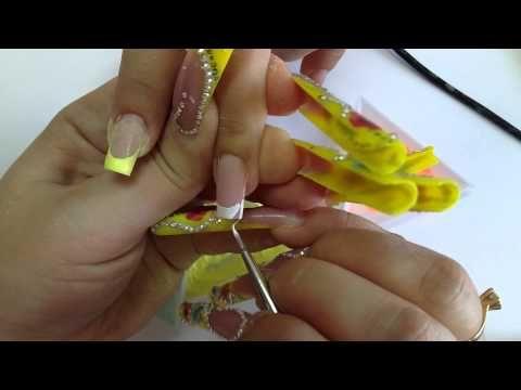 Дизайн ногтей. Пигменты, светящиеся в темноте. Градиент. - YouTube