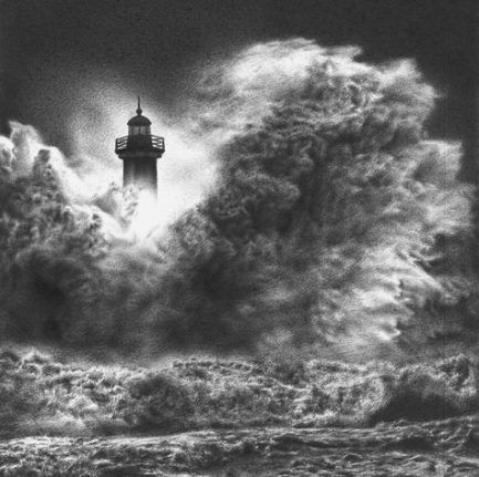 19 New Ideas For Painting Sea Storm #painting | Kunst, Wasser