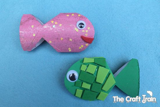 Toilet roll fish!  Sweet and simple