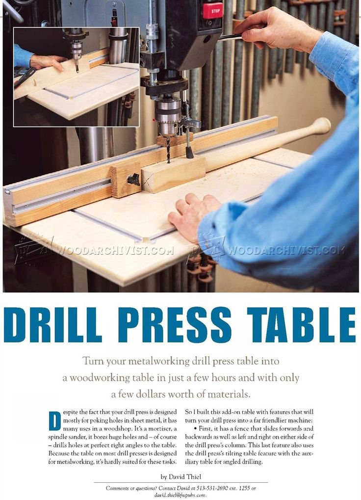 drill press projects Drill press accessories come in handy for a variety of projects just choose the  pieces you need and add them to your existing shop press whether you rely on  a.