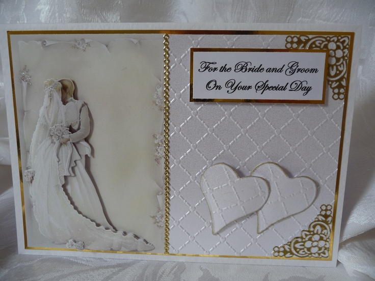 www.paulascardcre... A5 Wedding Card comes with white envelope in a cellophane bag. Can be personalised with names and date. £ 3 + P