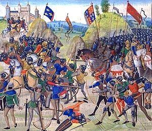 26/08/1346 : Bataille de Crécy (Guerre de Cent ans).