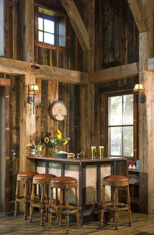 reclaimed wood paneling for home bar traditional family room by rmt architects