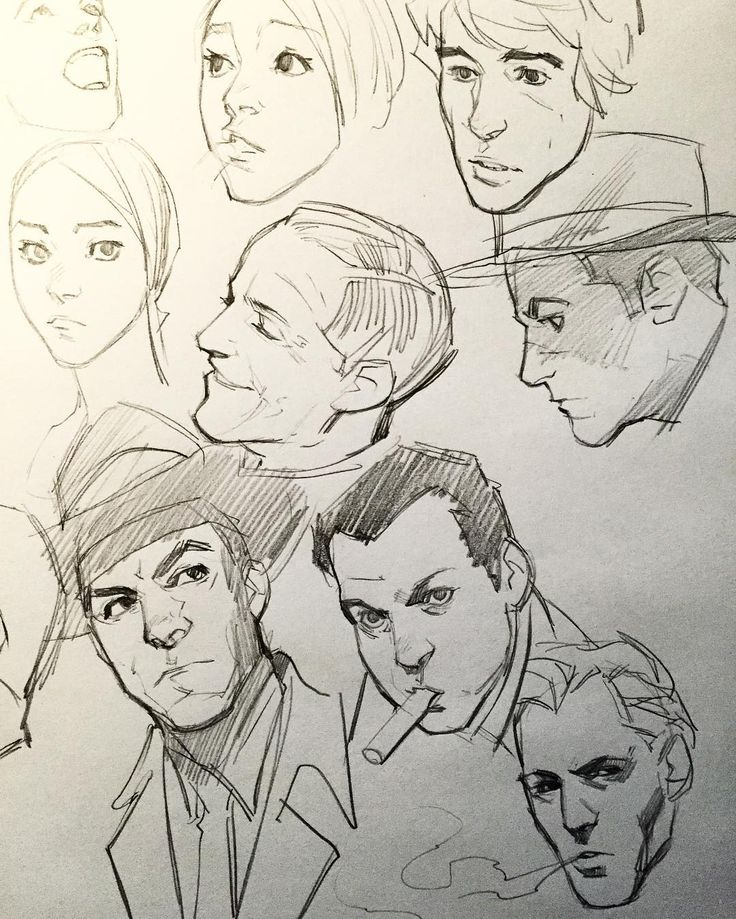 how to draw comic faces