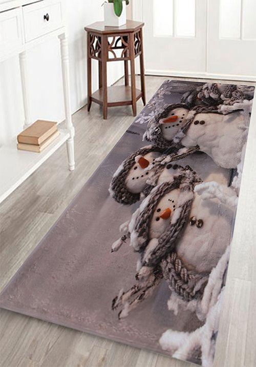 home decor:Snowmen Print Indoor Outdoor Area Rug