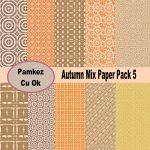 Autumn Mix Paper Pack 5