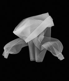 Gianfranco Ferré, Classic Glamour shirt, F/W 1990, prêt á porter, look 72. Silk organza. X-Ray simulation image by Leonardo Salvini. Courtesy of Gianfranco Ferré Foundation.
