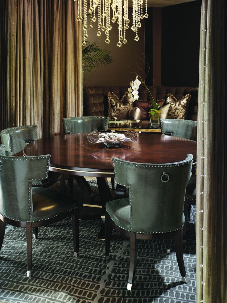 Shop For Marge Carson Design Folio Dining Table And Other Room Tables At Elite Interiors In Myrtle Beach SC