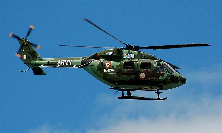 Indian Army HAL Dhruv Helicopter.