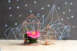 Copper Wire House Set of 2