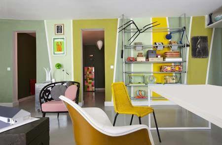 """Arredamento. Colorare tutti i muri. L'appartamento a Parigi dell'archittetto e designer Marco Mencacci. Su """"Io donna"""". . Foto-gallery e immagini - IO donna"""