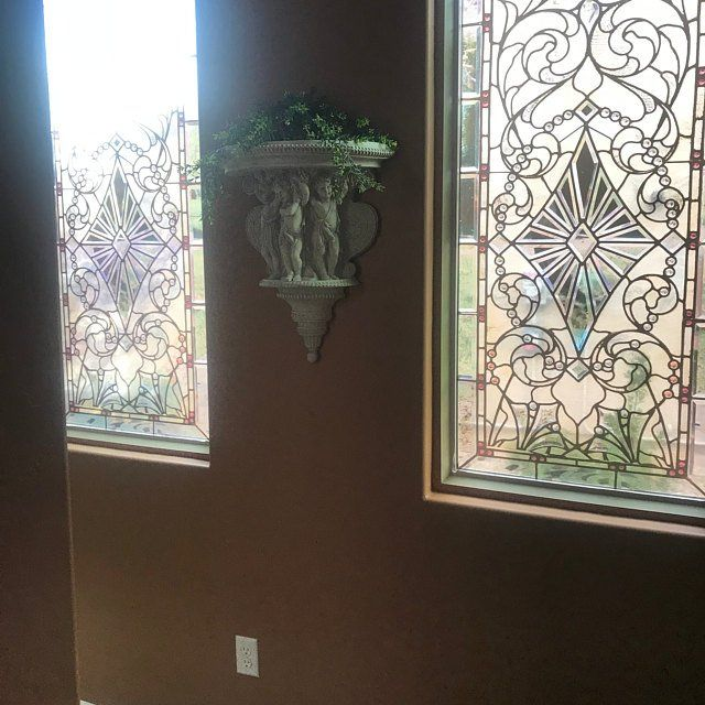 Door Wall Sticker Stained Glass With Bevels Self Adhesive Vinyl Decal Poster Mural Self Adhesive Wallpaper Glass Window Decals Modern Stained Glass Window Stained