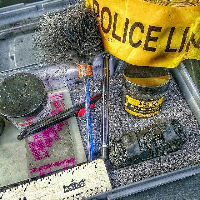 First Responder Strap - Police LEO backup duty gear w/ light, cuff key, seatbelt cutter, compass.